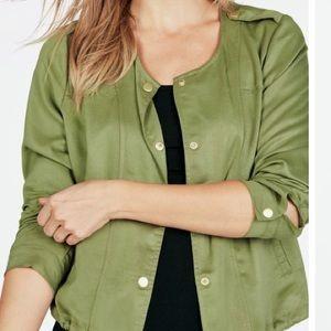 NWOT JustFab Olive Green Lightweight Bomber Jacket